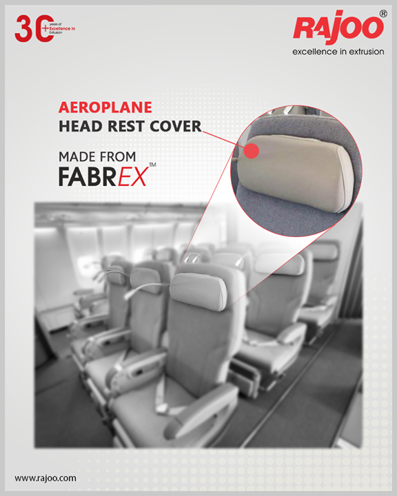 Aeroplane Head Rest Covers - made from the highly versatile FABREX by Rajoo Engineers.  #RajooEngineers #Rajkot #PlasticMachinery #Machines #PlasticIndustry