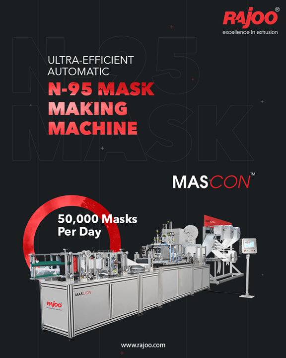 The Need of the Hour Machine, MASCON, by Rajoo Engineers, is intricately designed to meet the needs of the present situation. The highly efficient machine is capable of producing 50,000 masks per day with weight ranging from 5 gms to 20 gms.  #RajooEngineers #Rajkot #PlasticMachinery #Machines #PlasticIndustry