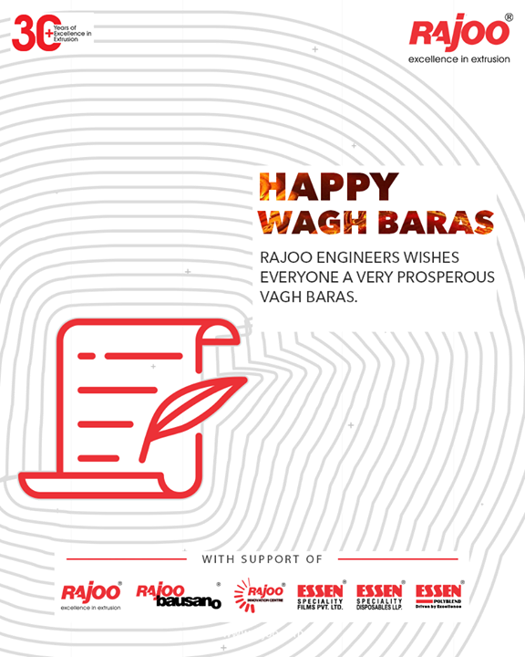 Rajoo Engineers wishes everyone a very prosperous Vagh Baras.  #VaghBaras2020 #VaghBaras #IndianFestivals #DiwaliIsHere #Celebration #FestiveSeason #RajooEngineers #Rajkot #PlasticMachinery #Machines #PlasticIndustry