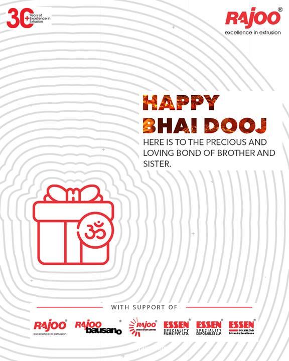Here is to the Precious & Loving Bond of Brother and Sister.  #HappyBhaiDooj #BhaiDooj #BhaiDooj2020 #Siblinghood #IndianFestivals #Celebration #HappyDiwali #FestiveSeason #RajooEngineers #Rajkot #PlasticMachinery #Machines #PlasticIndustry