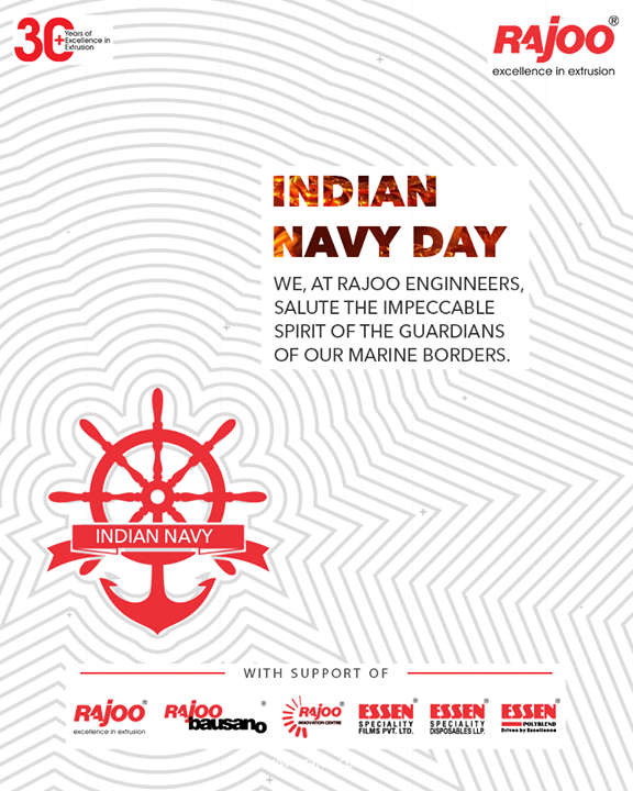 We, at Rajoo Engineers Limited, Salute the impeccable spirit of the Guardians of our Marine Borders.  #IndianNavyDay #IndianNavy #IndianNavyDay2020 #NavyDay #Heroes #MarineWarriors #RajooEngineers #Rajkot #PlasticMachinery #Machines #PlasticIndustry