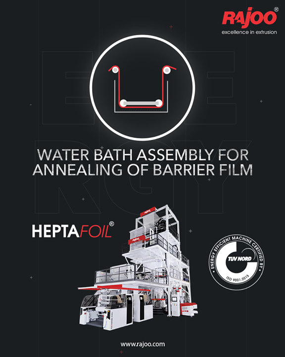 Our 7 Layer Blown Film Line Extruder - Heptafoil is equipped with an exclusive Water Bath assembly for the annealing of the Film.  #RajooEngineers #Rajkot #PlasticMachinery #Machines #PlasticIndustry