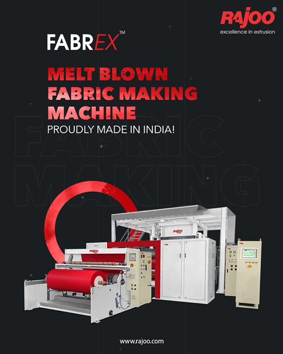 The efficient and great Melt Blown Fabric making Machine - Fabrex by Rajoo Engineers Limited is proudly made in India!  Fabrex can be used for making hygiene products, medical products, home furnishing products, technical products, and packaging products.  #RajooEngineers #Rajkot #PlasticMachinery #Machines #PlasticIndustry