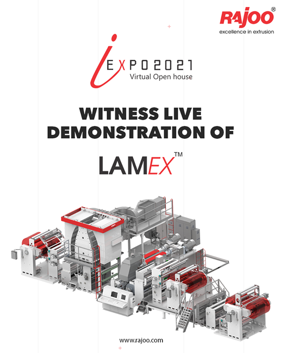 Witness LIVE demonstration of Lamex!  Register Now: https://www.rajoo.com/request_a_demo.html  #RajooEngineers #Rajkot #PlasticMachinery #Machines #PlasticIndustry