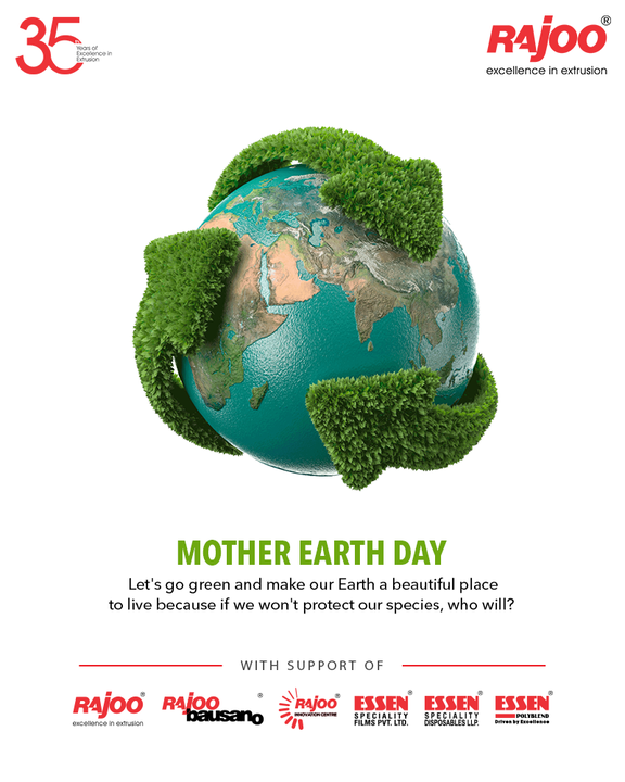 Let's go green and make our Earth a beautiful place to live because if we won't protect our species, who will?  #WorldEarthDay #SaveEarth #EarthDay2021 #EarthDay #MotherEarth #SaveThePlanet #RajooEngineers #Rajkot #PlasticMachinery #Machines #PlasticIndustry