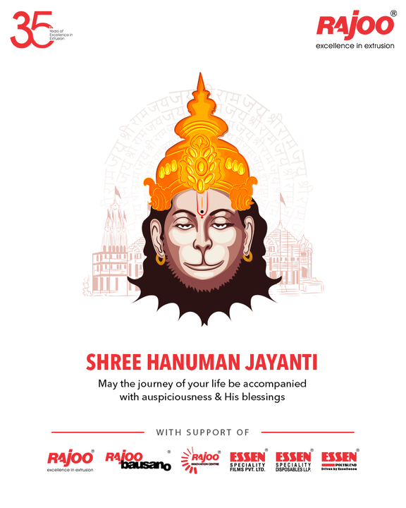 May the journey of your life be accompanied with auspiciousness & his blessings  #HanumanJayanti #HappyHanumanJayanti #LordHanuman #HanumanJayanti2021 #RajooEngineers #Rajkot #PlasticMachinery #Machines #PlasticIndustry