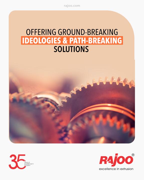 With ground-breaking ideologies and path-breaking solutions we continue to mould your dreams into reality.  #RajooEngineers #Rajkot #PlasticMachinery #Machines #PlasticIndustry