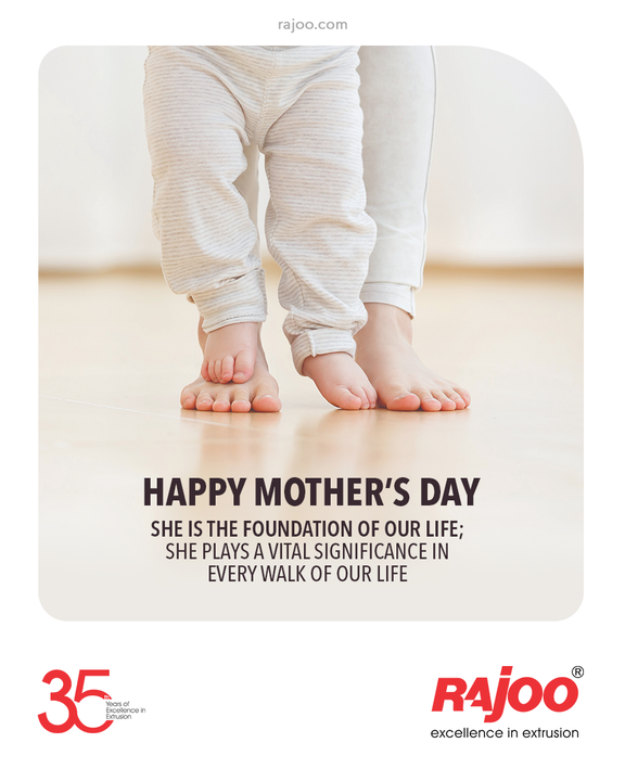 She is the foundation of our life; she plays a vital significance in every walk of our life  #HappyMothersDay #MothersDay #MothersDay2021 #Motherhood #RajooEngineers #Rajkot #PlasticMachinery #Machines #PlasticIndustry