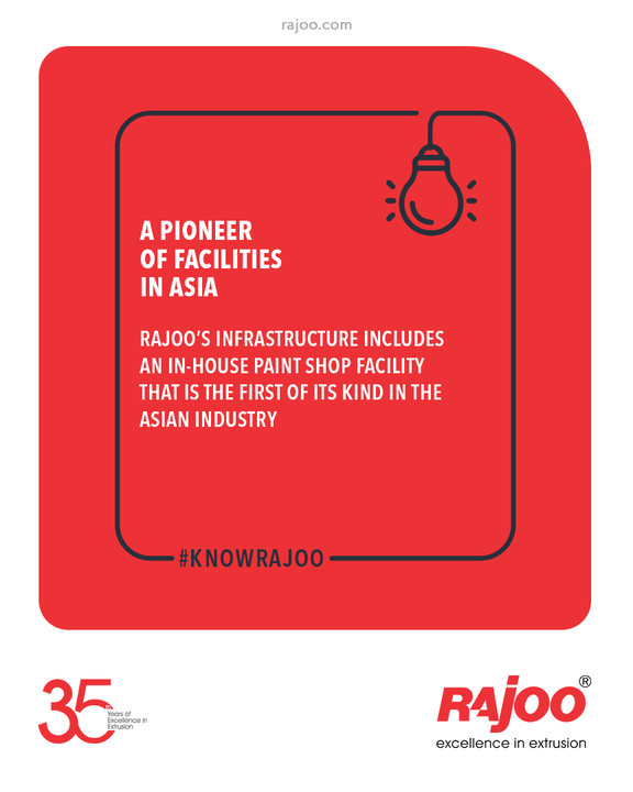Rajoo's infrastructure includes an in-house Paint Shop Facility that is the first of its kind in the Asian Industry.  #KnowRajoo #RajooEngineers #Rajkot #PlasticMachinery #Machines #PlasticIndustry
