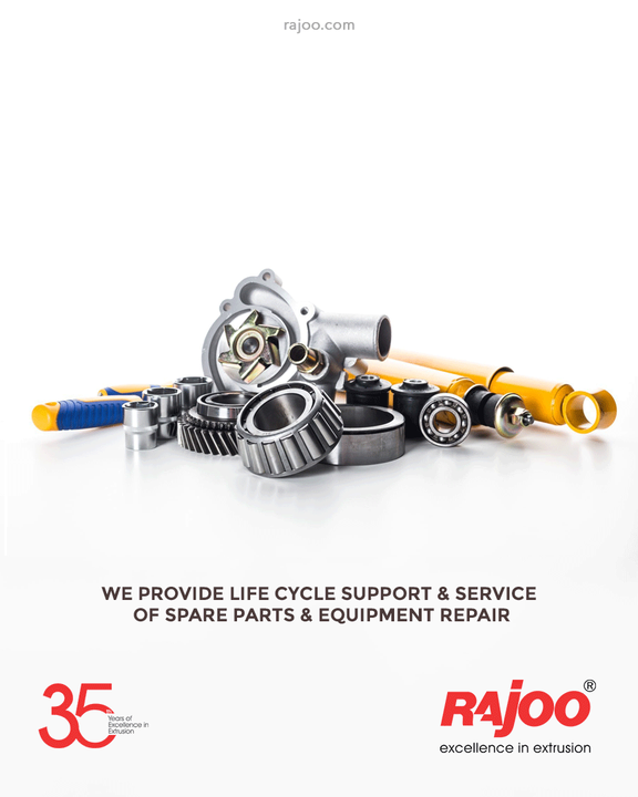 Rajoo offers lifecycle support & service of spare parts & equipment repair.  We also maintain stock of all essential spares for the products. This helps us to meet our client's requirement that comes with urgency as malfunctioning of any single spare part of a machine can put the entire process on hold.  All our clients are also supplied with well-detailed product manuals having product & spare parts numbers in a way that is easy to recognize and order.  Furthermore, we ensure we dispatch spare parts within 24 hours, provided the requirement is clear and commercial formalities are completed.  #RajooEngineers #Rajkot #PlasticMachinery #Machines #PlasticIndustry