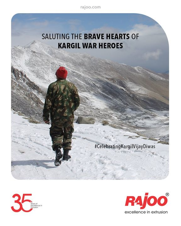 Even after 22 years, they are still the Paragon of Sacrifice & Valour.  #KargilVijayDiwas2021 #KargilVijayDiwas #Kargil #Indian #IndianArmy #Salute #RealHero #KargilWar #RajooEngineers #Rajkot #PlasticMachinery #Machines #PlasticIndustry