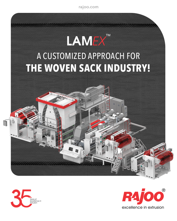 Our Industry altering, Lamex, is a customized approach to the woven sack industry through which we expand our portfolio of emerging technologies.  #LAMEX #RajooEngineers #Rajkot #PlasticMachinery #Machines #PlasticIndustry #StayTuned