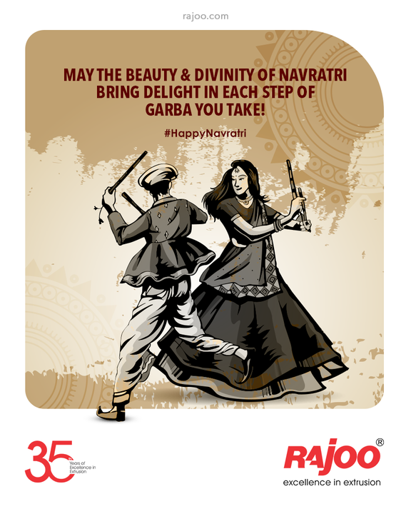 May the beauty & divinity of Navratri bring delight in each step of Garba you take!  #Navratri #Navratri2021 #HappyNavratri #HappyNavratri2021 #Festival #RajooEngineers #Rajkot #PlasticMachinery #Machines #PlasticIndustry