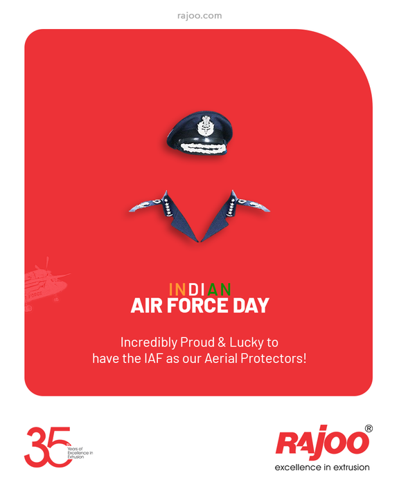 Incredibly Proud & Lucky to have the IAF as our Aerial Protectors!  #IndianAirForceDay #IndianAirForce #AirForce #IndianAirForceDay2021 #RajooEngineers #Rajkot #PlasticMachinery #Machines #PlasticIndustry