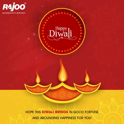 Hope this Diwali brings in Good Fortune & Abounding Happiness for you!  #HappyDiwali #FestiveWishes #Diwali #IndianFestivals #DiwaliisHere #RajooEngineers #Rajkot