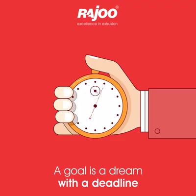 Transform your dream to goals with a dedicated time & hard work.  #RajooEngineers #Rajkot