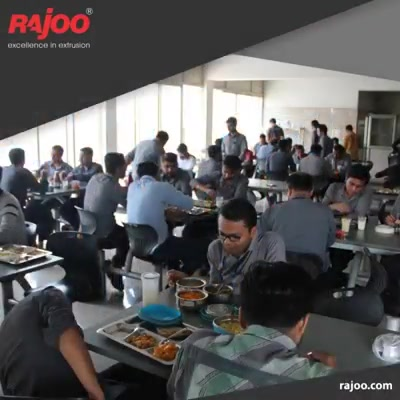 A day at Rajoo Engineers Limited,India is charged up with lemon juice in the morning for all before starting work followed by Hygienic & healthy lunch for employees.   #RajooEngineers #Rajkot #PlasticMachinery #Machines #PlasticIndustry