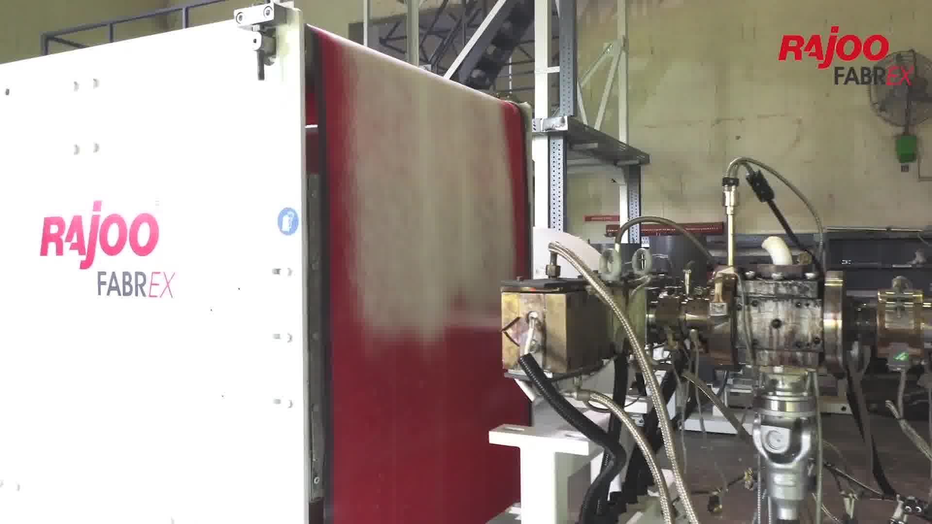 Our Grandiose Melt Blown Fabric making Machine, FABREX in action.  FabrEX® nonwoven lines are designed and manufactured targeting various applications to provide specific functions such as absorbency, liquid repellence, resilience, stretch, softness, strength, flame retardant, washable, cushioning, filtering, use as a bacterial barrier, and sterility. These properties are often combined to create fabrics suited for specific applications while achieving a good balance between product use-life and cost. They mimic the appearance, texture, and strength of a woven textile or polymer fabric and can be as bulky as the thickest padding. In combination with other materials, they provide a spectrum of products with diverse properties and are used alone or as components of apparel, home furnishings, health care, engineering, industrial, and consumer goods.  #RajooEngineers #Rajkot #PlasticMachinery #Machines #PlasticIndustry