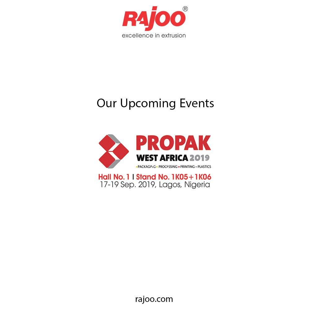 Our Upcoming Events!  #UpcomingEvents #RajooEngineers #PlasticMachinery #Machines #PlasticIndustry