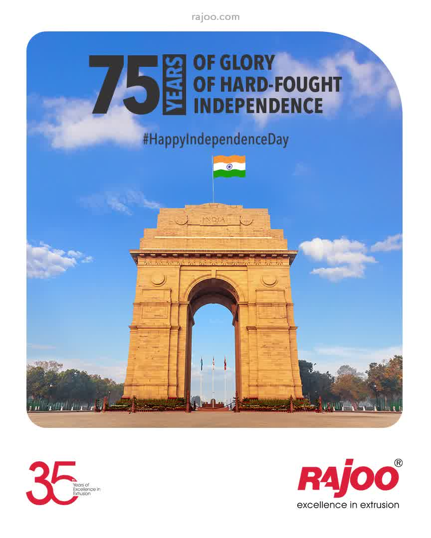 75 Years of Glory 75 Years of Hard-Fought Independence  Celebrating our Glorious Nation & a Milestone Independence since 15th August, 1947. Jai Hind!  #HappyIndependenceDay #IndependenceDay #IndianIndependenceDay #15August2021 #HappyIndependenceDay2021 #IndiaAt75 #RajooEngineers #Rajkot #PlasticMachinery #Machines #PlasticIndustry