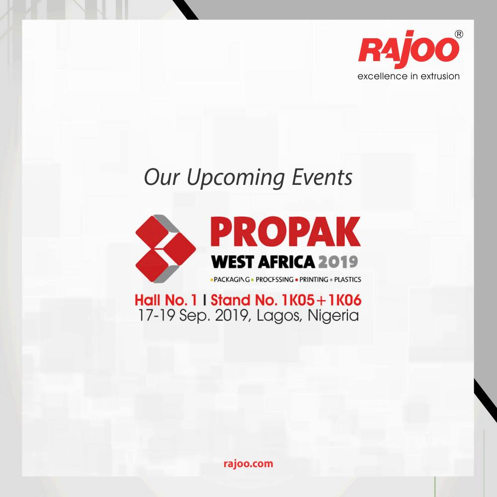 Our Upcoming Events!  #RajooEngineers #Rajkot #PlasticMachinery #Machines #PlasticIndustry