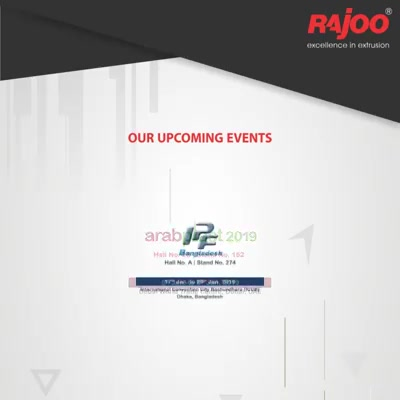 Our Upcoming Events!  #UpcomingEvents #RajooEngineers #Rajkot #PlasticMachinery #Machines #PlasticIndustry