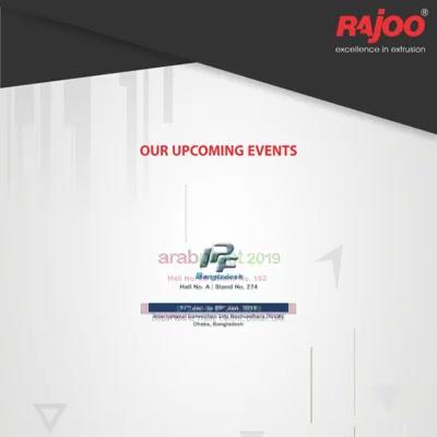 Our Upcoming Events!  #UpcomingEvents #RajooEngineers #Rajkot #PlasticMachinery #Machines #PlasticIndustry