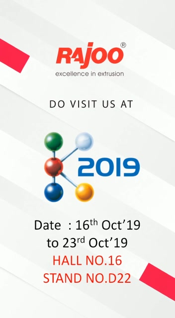 Visit us!  #UpcomingEvents #RajooEngineers #PlasticMachinery #Machines #PlasticIndustry
