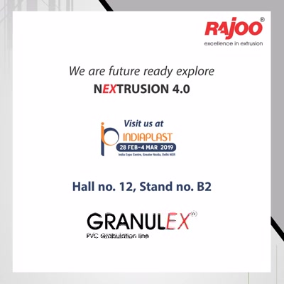 Visit us at Indiaplast to experience our new technologies!   #IndiaPlast #RajooEngineers #Rajkot #PlasticMachinery #Machines #PlasticIndustry