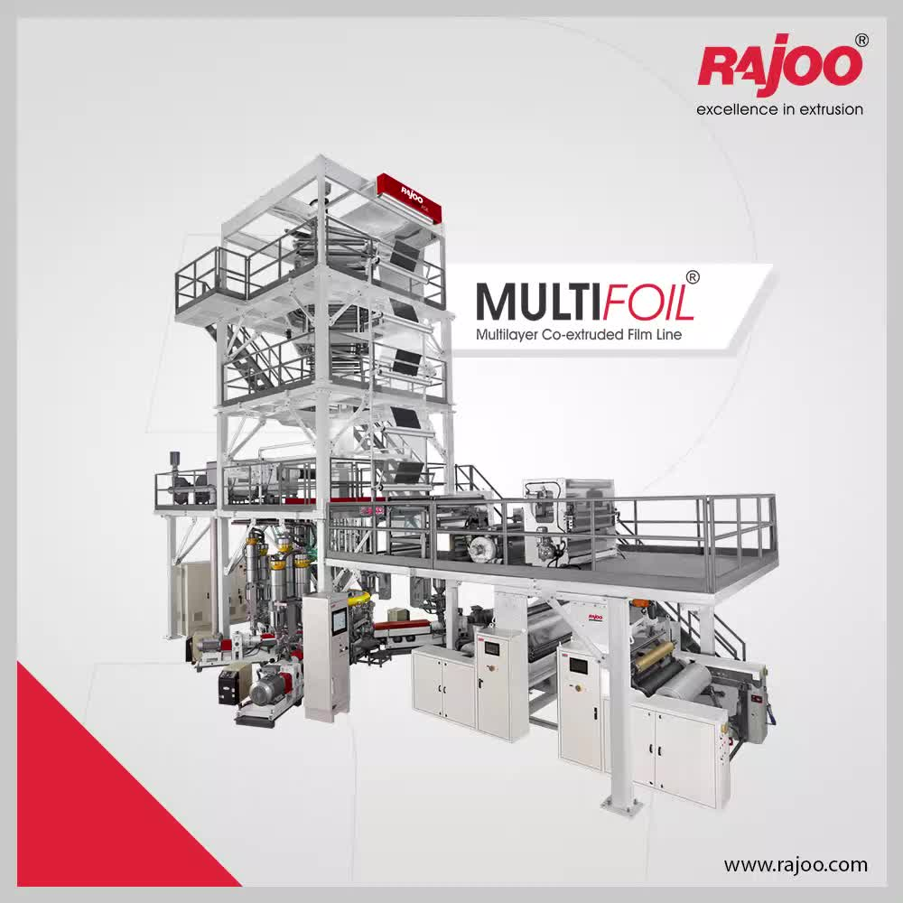 Multifoil by Rajoo Engineers for three-layer blown film lines are used for Lamination grade film, Liquid packaging film, High dart FFS resin sack film, Cereal packaging film, Short shelf-life oil packaging film, Pharma and medical-grade film, Pallet hooding shrink/stretch film, Greenhouse film, Silage and mulch film, Geomembrane film, Pond, canal and container liners, and Soap packaging films.  #RajooEngineers #Rajkot #PlasticMachinery #Machines #PlasticIndustry