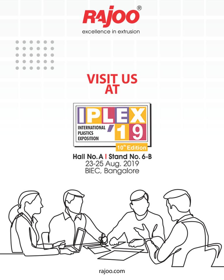 Visit us!  #IPLEX19 #RajooEngineers #Rajkot #PlasticMachinery #Machines #PlasticIndustry https://t.co/76qnRLQiwq