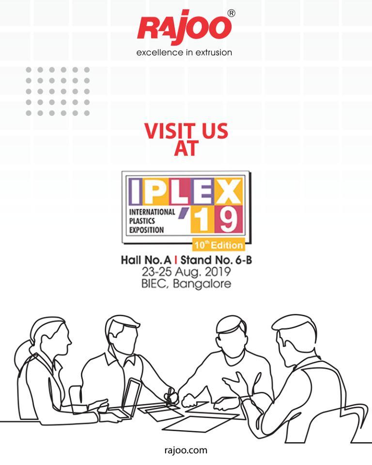 Rajoo Engineers,  IPLEX19, RajooEngineers, Rajkot, PlasticMachinery, Machines, PlasticIndustry