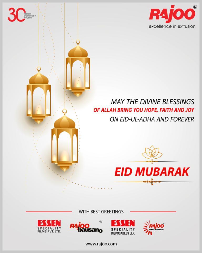 May the divine blessings of Allah bring you hope, faith, and joy on Eid-Ul-Adha and forever.  #EidMubarak #EidAlAdha #EidAdhaMubarak #RajooEngineers #Rajkot #PlasticMachinery #Machines #PlasticIndustry https://t.co/wjvz9IUzcM