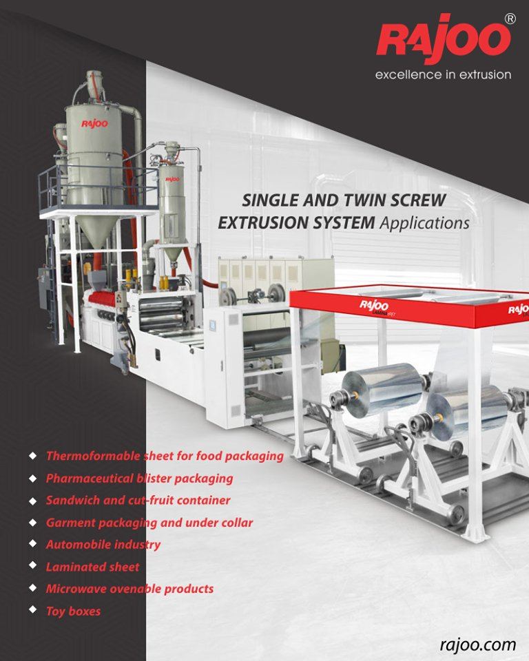 Lamina – rPET sheet extrusion lines are offered with two different type of concepts – Single and Twin screw two layer  ReadMore:https://t.co/JsIpmUKfjX  #RajooEngineers #Rajkot #PlasticMachinery #Machines #PlasticIndustry https://t.co/7rm1op5Jzv