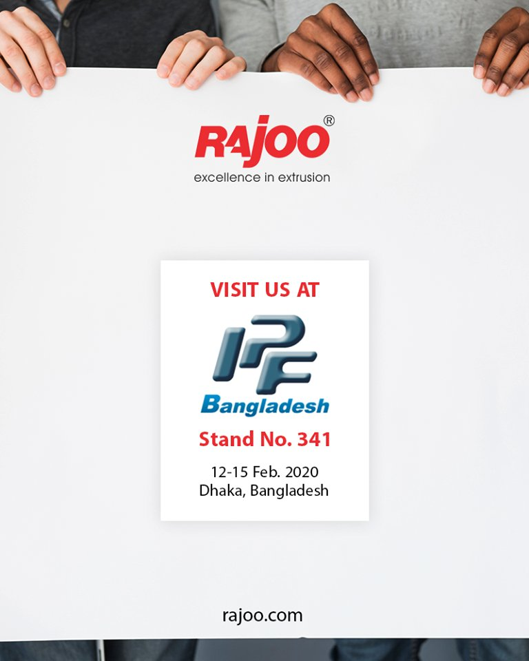 Visit us at IPF Bangladesh!  #RajooEngineers #Rajkot #PlasticMachinery #Machines #PlasticIndustry https://t.co/5ms0qigFyR