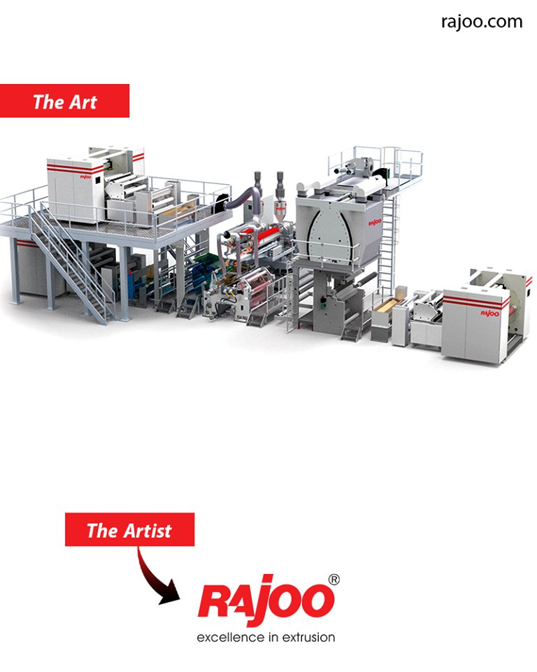 LAMEX series of extrusion coating and lamination lines are designed for absolute ease of operation and are available in  ReadMore:https://t.co/KaGXxhw5Bk  #RajooEngineers #Rajkot #PlasticMachinery #Machines #PlasticIndustry https://t.co/Pnemu1X6oP
