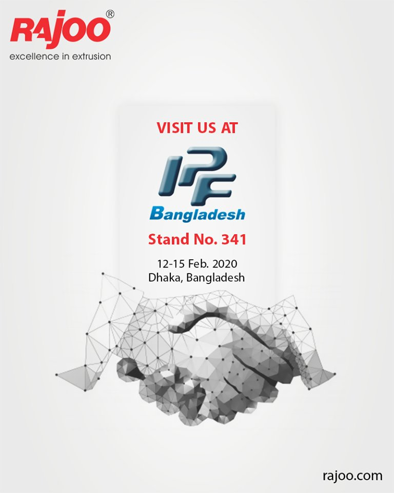 Visit us at IPF Bangladesh!  #RajooEngineers #Rajkot #PlasticMachinery #Machines #PlasticIndustry https://t.co/6mNrLlO9YI