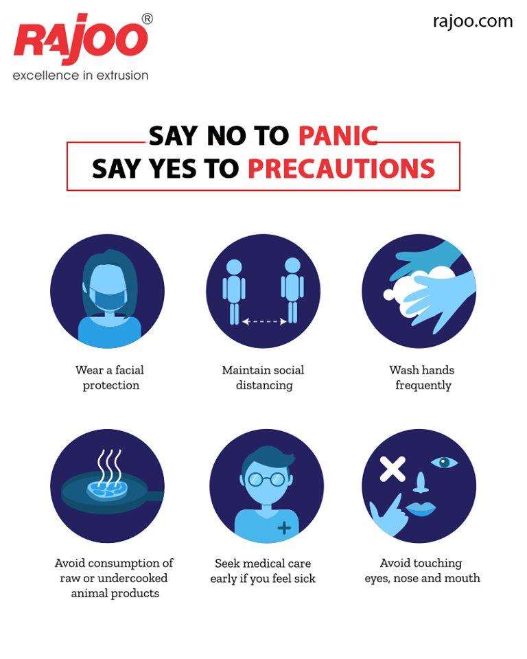 Stay Aware Stay Safe!  #CoronaVirus #CoronaAlert #COVID19 #StayAware #StaySafe #RajooEngineers #Rajkot #PlasticMachinery #Machines #PlasticIndustry https://t.co/bUvbg3J3Ur