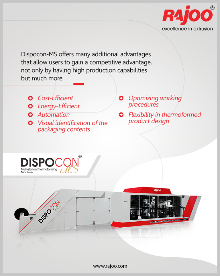 Dispocon-MS offers many additional advantages that allow users to gain a competitive advantage, not only by having high production capabilities but much more.  #RajooEngineers #Rajkot #PlasticMachinery #Machines #PlasticIndustry https://t.co/AcpGqE1JCh