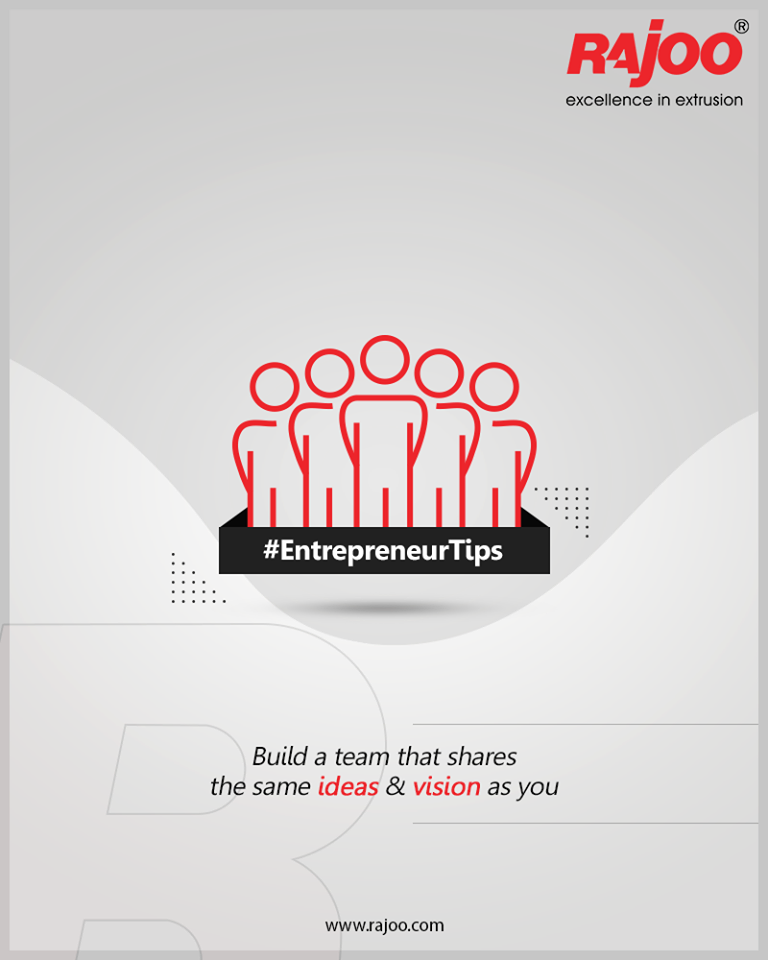 Build a team that shares the same ideas & vision as you.  #RajooEngineers #Rajkot #PlasticMachinery #Machines #PlasticIndustry #entrepreneurstips https://t.co/DuxxjKSQYO