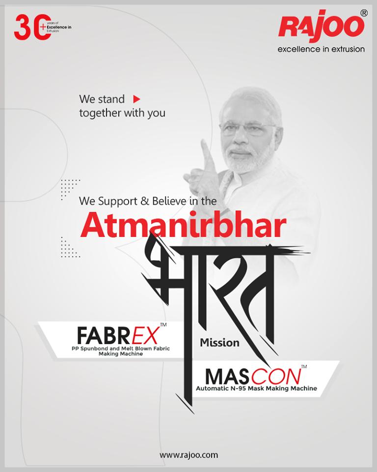 We, at Rajoo Engineers Limited, support & believe in the 'Atmanirbhar Bharat' Mission. Since our inception in 1986, ReadMor:https://t.co/zIKtHmPu53  #IndiaFightsCorona #Coronavirus #RajooEngineers #Rajkot #PlasticMachinery #Machines #PlasticIndustry https://t.co/SB3oEtNj6z