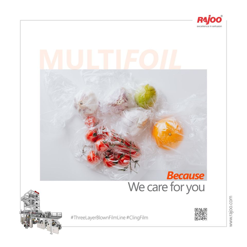 Fruits or Vegetables when wrapped in Plastic, triples the amount of time it remains fresh.  ReadMore:https://t.co/7ZMru62ciQ  #RajooEngineers #Rajkot #PlasticMachinery #Machines #PlasticIndustry #PlasticSheet #PlasticFilm https://t.co/RCJWyOEL0p