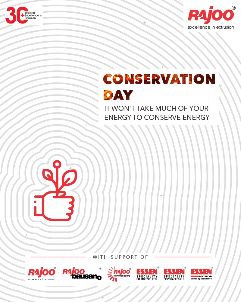 It won't take much of your energy to conserve energy   #NationalEnergyConservationDay #EnergyConservation #EnergyConservationDay2020 #RajooEngineers #Rajkot #PlasticMachinery #Machines #PlasticIndustry https://t.co/rkgjLy4Isp