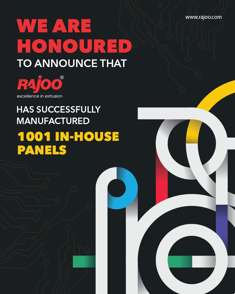 Rajoo Engineers is proud to announce that, with the help of a hardworking team we have successfully manufactured 1001 in-house panels  #RajooEngineers #Rajkot #PlasticMachinery #Machines #PlasticIndustry https://t.co/ZmJrXweapN