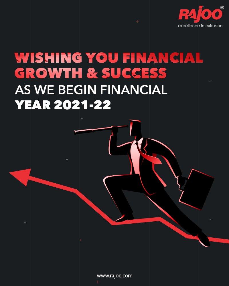 Wishing you Financial growth & success as we begin financial year 2021-22  #RajooEngineers #Rajkot #PlasticMachinery #Machines #PlasticIndustry https://t.co/d3Z9HwgJEg
