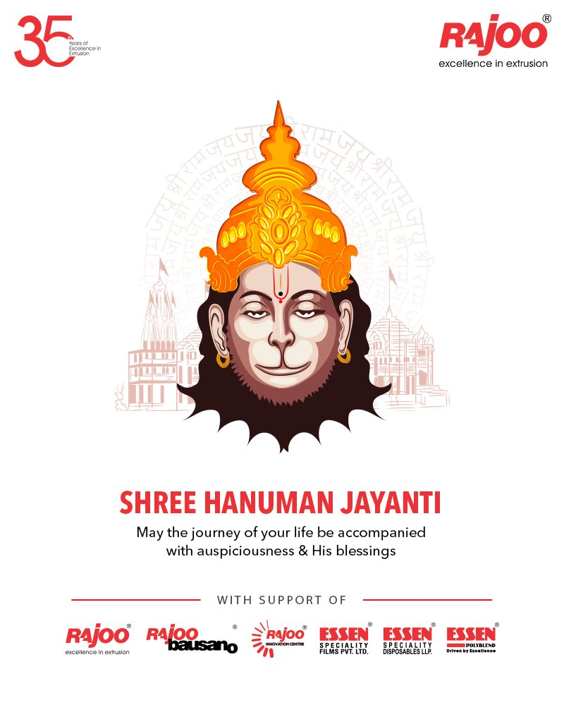 May the journey of your life be accompanied with auspiciousness & his blessings  #HanumanJayanti #HappyHanumanJayanti #LordHanuman #HanumanJayanti2021 #RajooEngineers #Rajkot #PlasticMachinery #Machines #PlasticIndustry https://t.co/JR53qoev0r