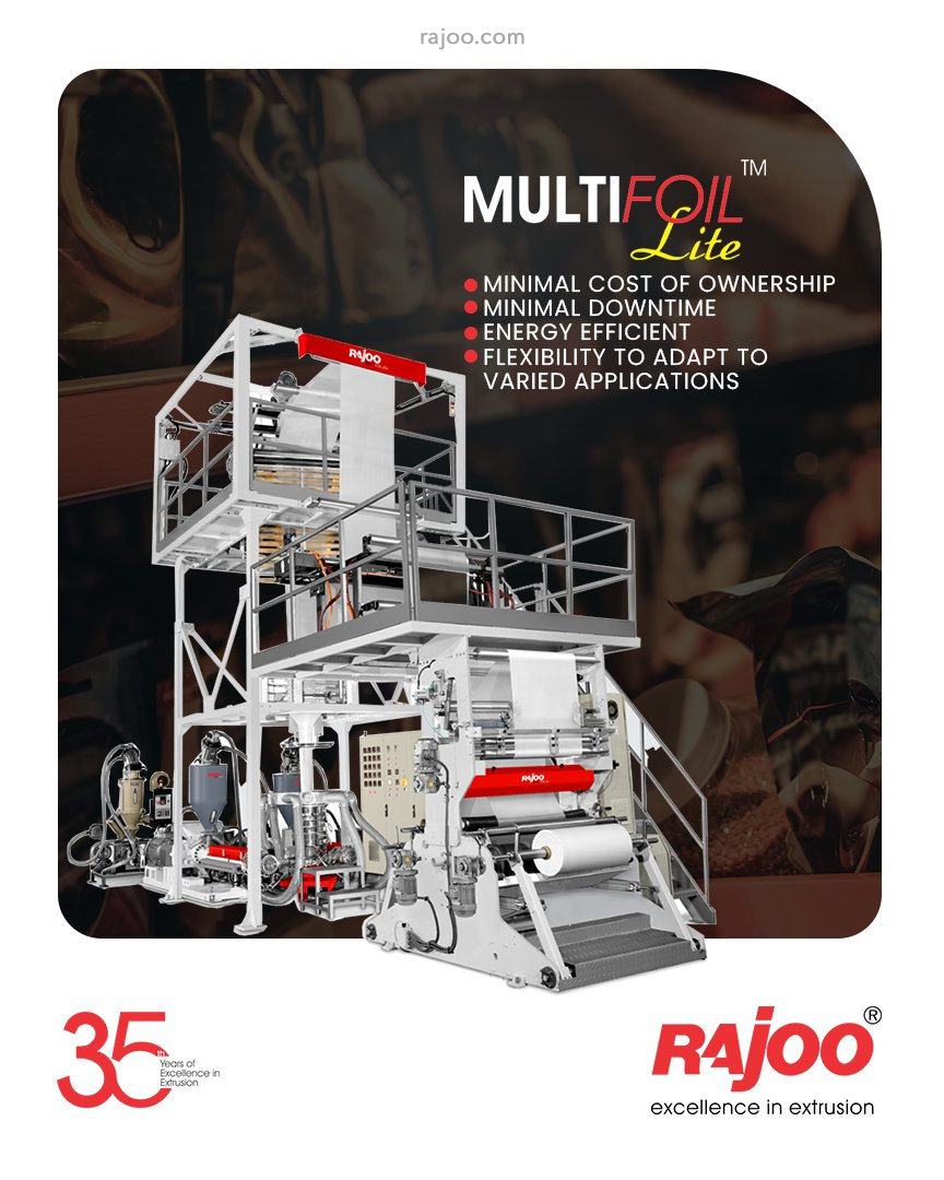 The MULTIFOIL - LITE comes with the trademark quality of Rajoo machines coupled with a minimal cost of ownership, minimal downtime, energy efficient, flexibility to adapt to varied applications to ensure a sustained competitive advantage for its customers.  #RajooEngineers https://t.co/QsRoQinhe8