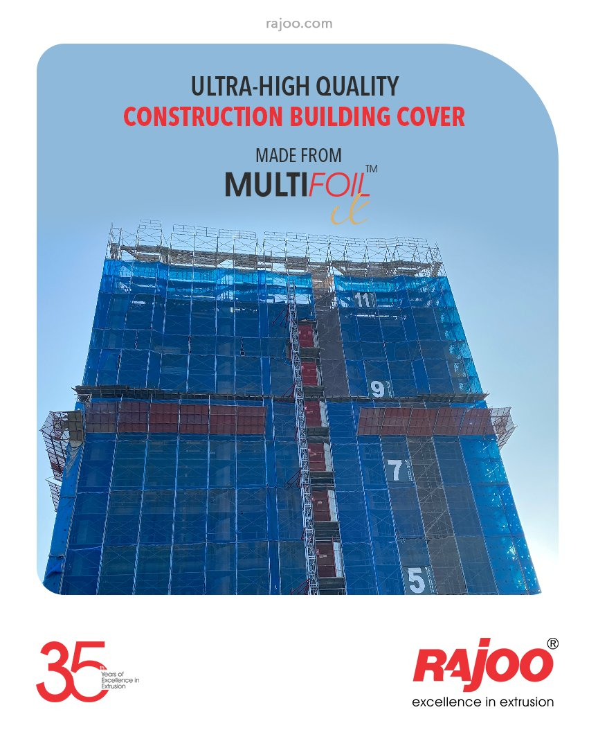 The versatile Multifoil – X is an ideal machine to make Ultra-High Quality Construction building covers.  #RajooEngineers #Rajkot #PlasticMachinery #Machines #PlasticIndustry https://t.co/Gl7VwiS2Au