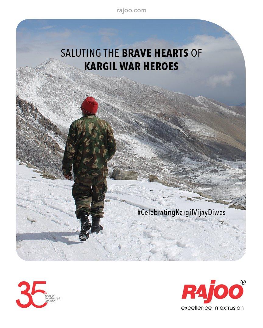 Even after 22 years, they are still the Paragon of Sacrifice & Valour.  #KargilVijayDiwas2021 #KargilVijayDiwas #Kargil #Indian #IndianArmy #Salute #RealHero #KargilWar #RajooEngineers #Rajkot #PlasticMachinery #Machines #PlasticIndustry https://t.co/a3SenzNwmz