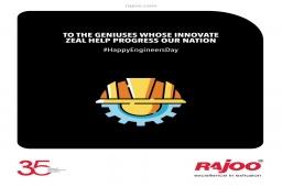 To the Geniuses whose Innovate Zeal Help Progress our Nation. #HappyEngineersDay #EngineersDay #EngineersDay2021  #RajooEngineers #Rajkot #PlasticMachinery #Machines #PlasticIndustry https://t.co/8NNEuLs3rN